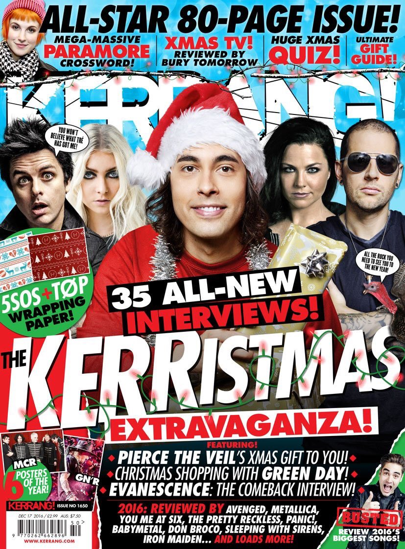 HAPPY KERRANG! DAY! The Kerristmas issue is on sale now! https;//t.co/sN920jheGl https;//t.co/r0v...