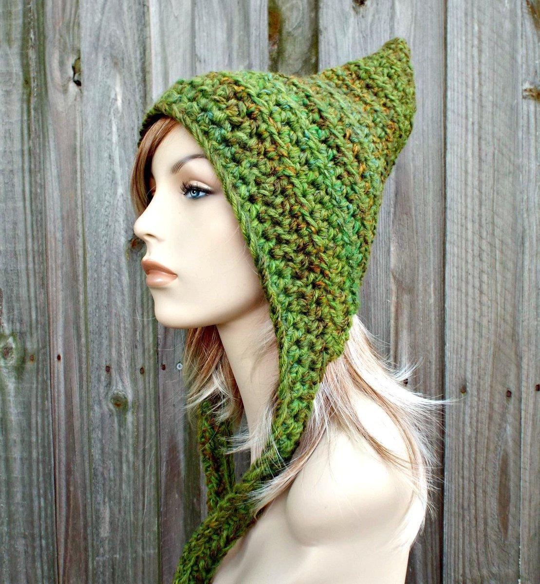 Crocheted Hat Womens Hat - Oversized Crocheted Pixie Hat in Mixed Gre… https://t.co/vbX8TVitHn #pixiebell #Pixiebell https://t.co/7b8ZJWprkZ