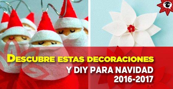Descubre estas decoraciones y DIY para #Navidad 2016-2017