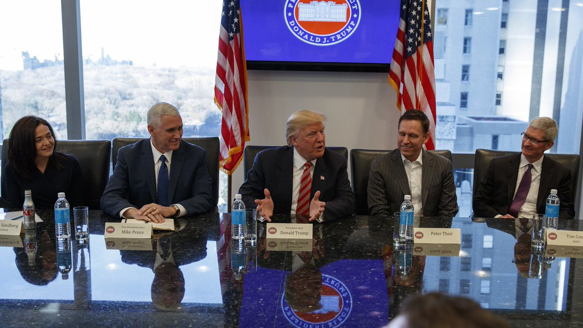 Wary Silicon Valley leaders meet with Trump
