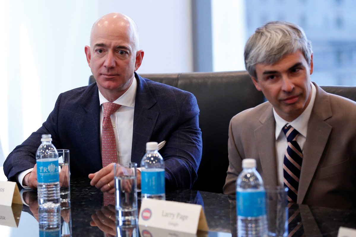 Jeff Bezos's face, knowing he could be flying delivery drones instead of meeting with Donald Trump. https://t.co/7jaVCTzw9D