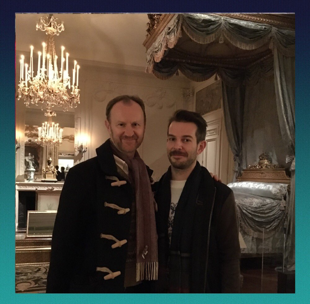 Amazing outings with brilliant people in NYC day 2 - @metmuseum with @Markgatiss - in a suitably macabre room