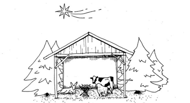 A nativity scene without any Jews, Arabs, Africans, refugees or unwed mothers