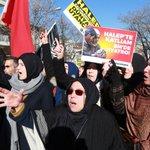Hundreds protest against Russia, Iran over Aleppo in Ankara
