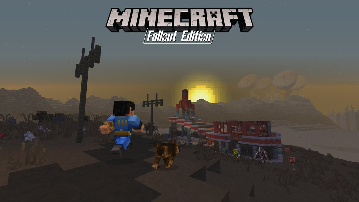 Get yer Radaway at the ready: The Fallout Mash-Up Pack is coming to Console Edition soon! https://t.co/cpNY9KRA1V https://t.co/Bke55eJuXz