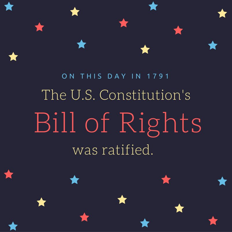 Happy #BillofRightsDay! https://t.co/bIiGWNjDzM