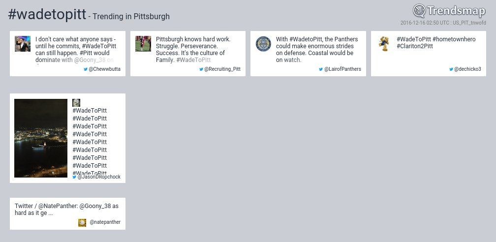 #wadetopitt is now trending in #Pittsburgh  https://t.co/fDFPUIVxX6 https://t.co/uKajtUh5eo