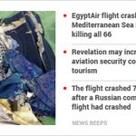 Traces Of Explosives Found On Human Remains From EgyptAir Crash