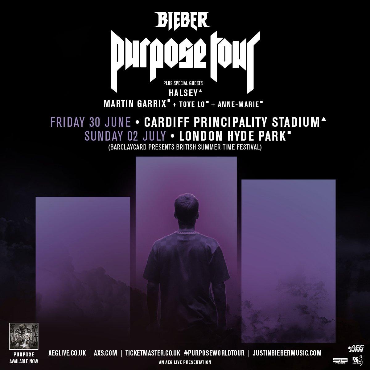 UK. Bringing #PurposeTour next summer to Cardiff and London