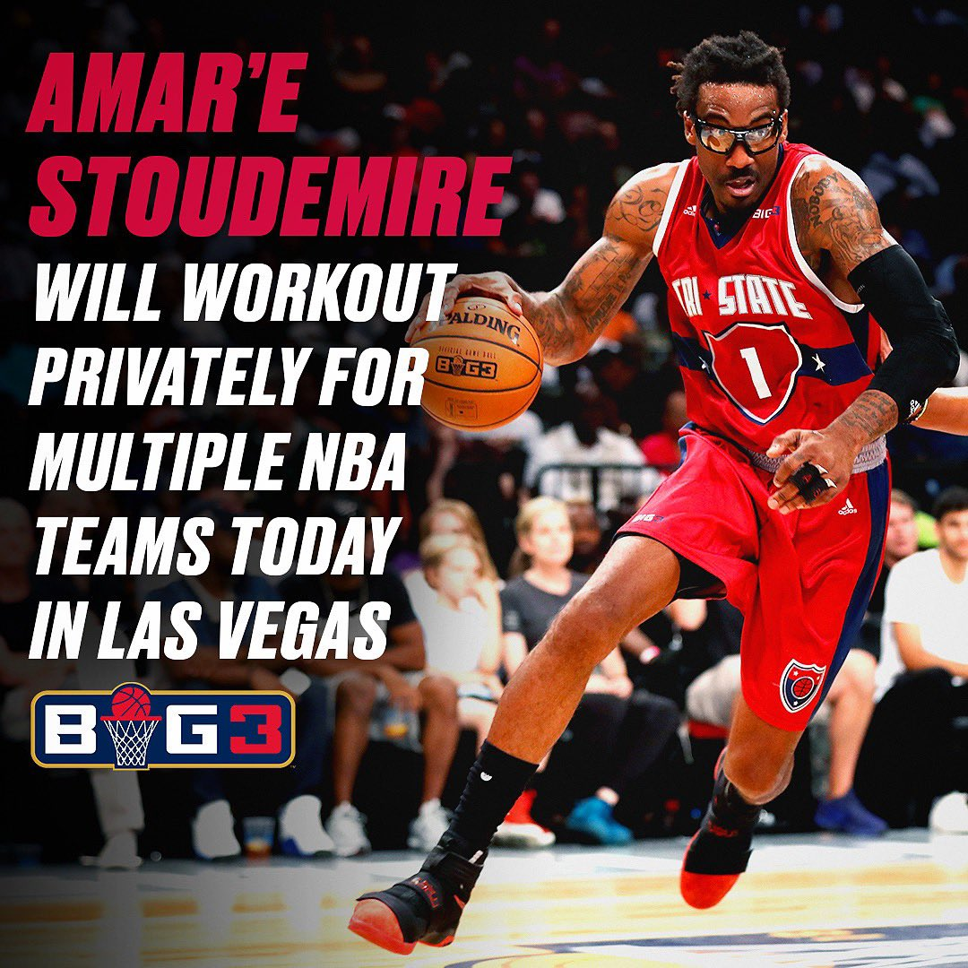 RT @thebig3: Good luck @Amareisreal ???????????? — Which other BIG3 players deserve a workout? ???????????? #BIG3onCBS https://t.co/6rM6NSnFLM