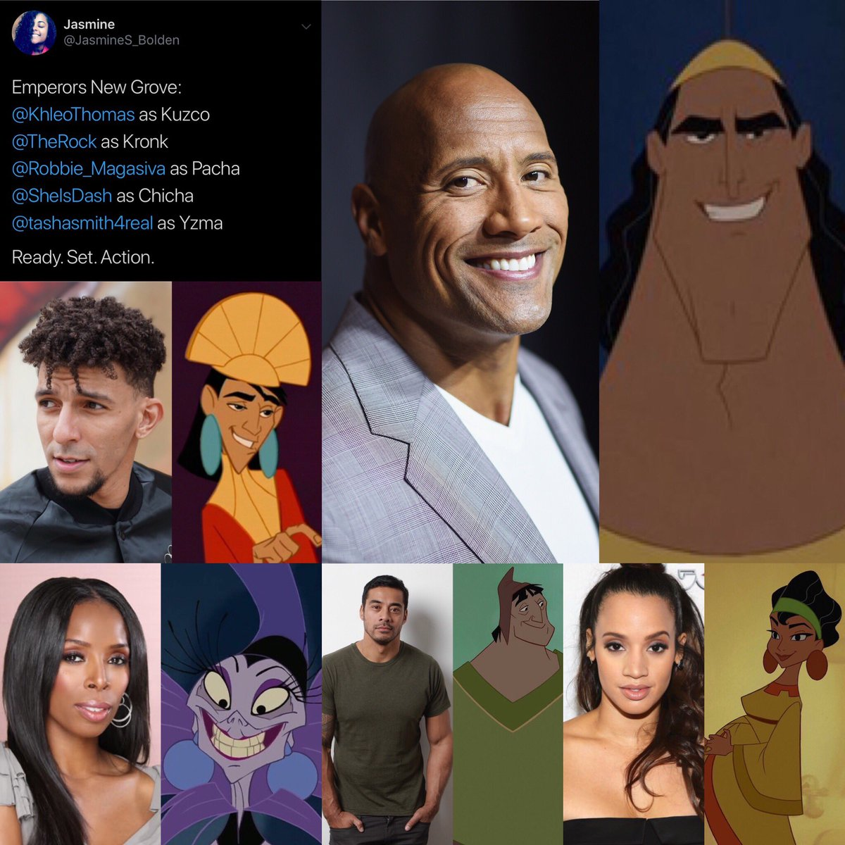 RT @KhleoThomas: The live-action Emperors New Groove cast. Y'all pulling up ? https://t.co/pQopsb87qo