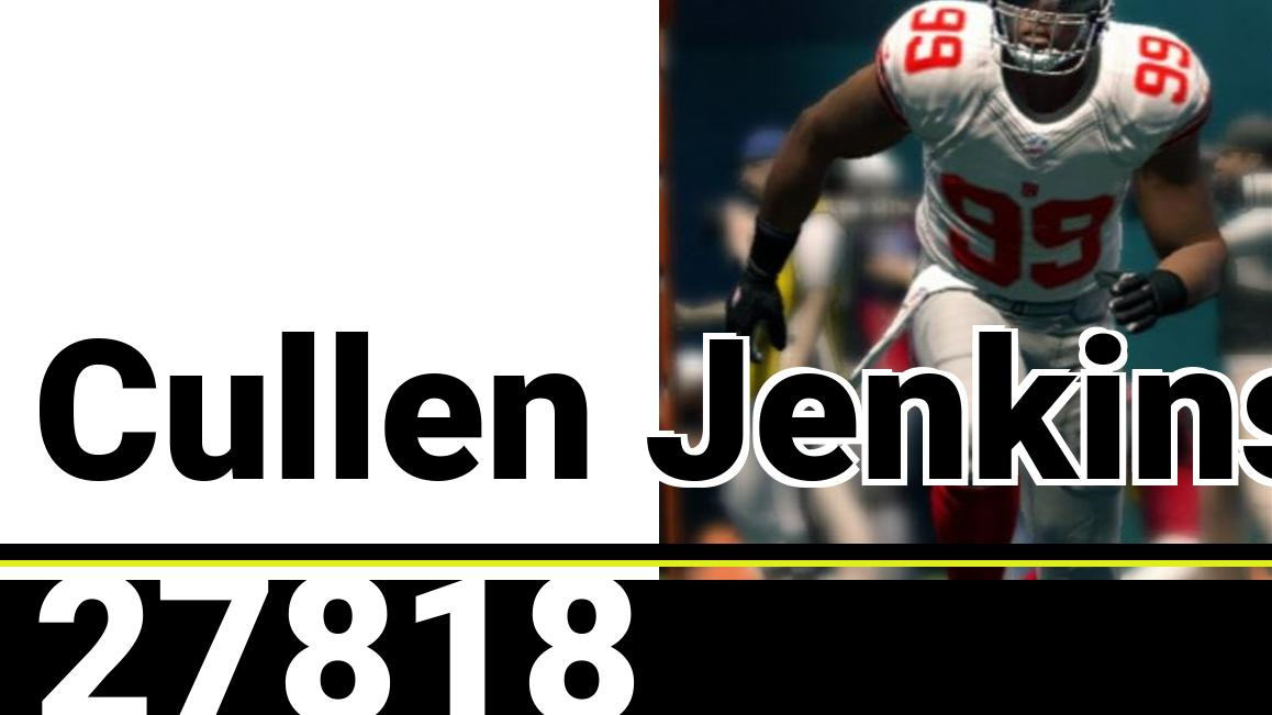 Do you know who would make for good SSBU DLC? Cullen Jenkins from the Madden NFL games, of course! https://t.co/cUSbq8OjXD