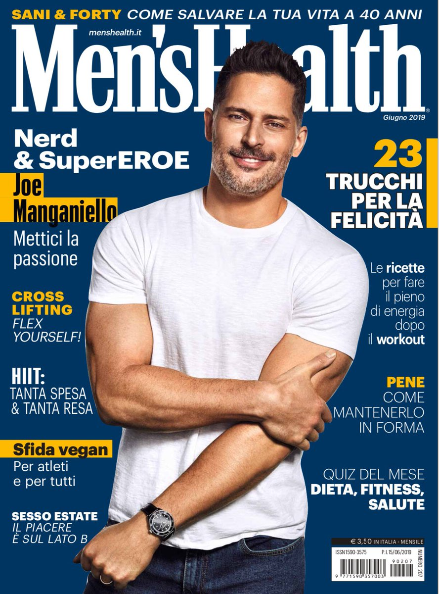 RT @JoeManganiello: Grazie Men's Health Italia!   #bottomofthe9th https://t.co/UoYvOjXmoi
