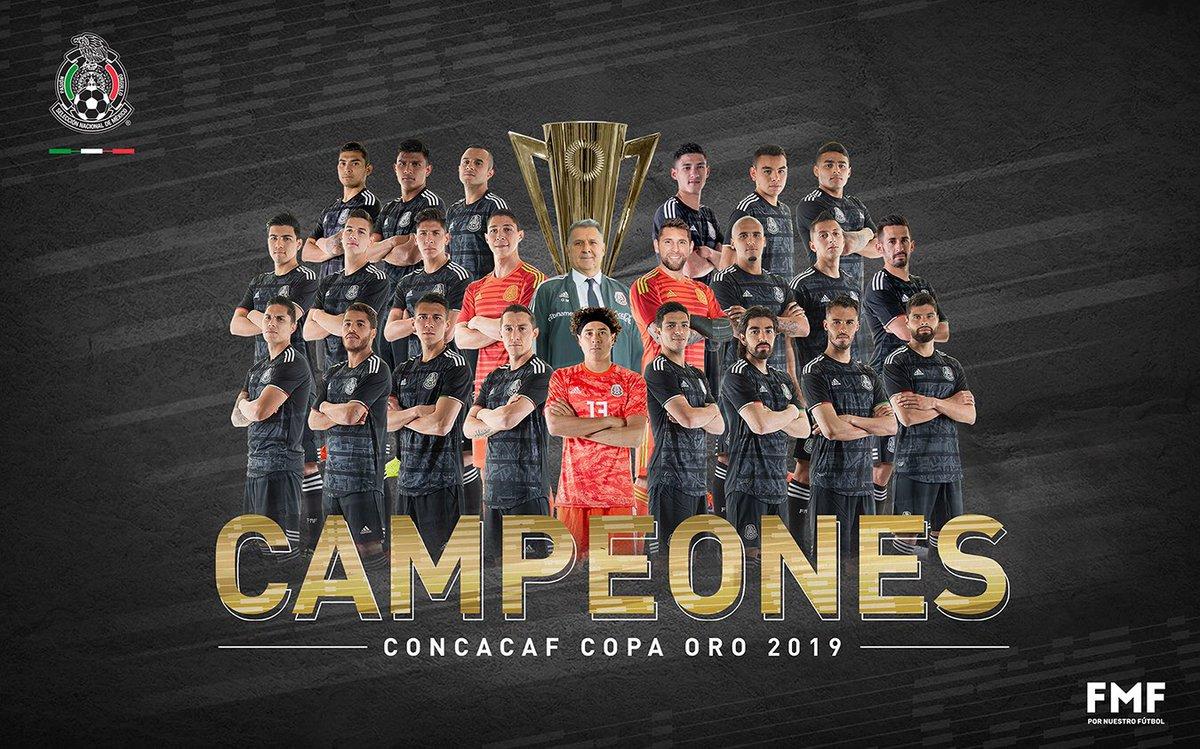 Enhorabuena ???????? ¡Campeones! ???? #México #GoldCup2019 #CopaOro2019  #FMFporNuestroFútbol https://t.co/54ba8GogX5