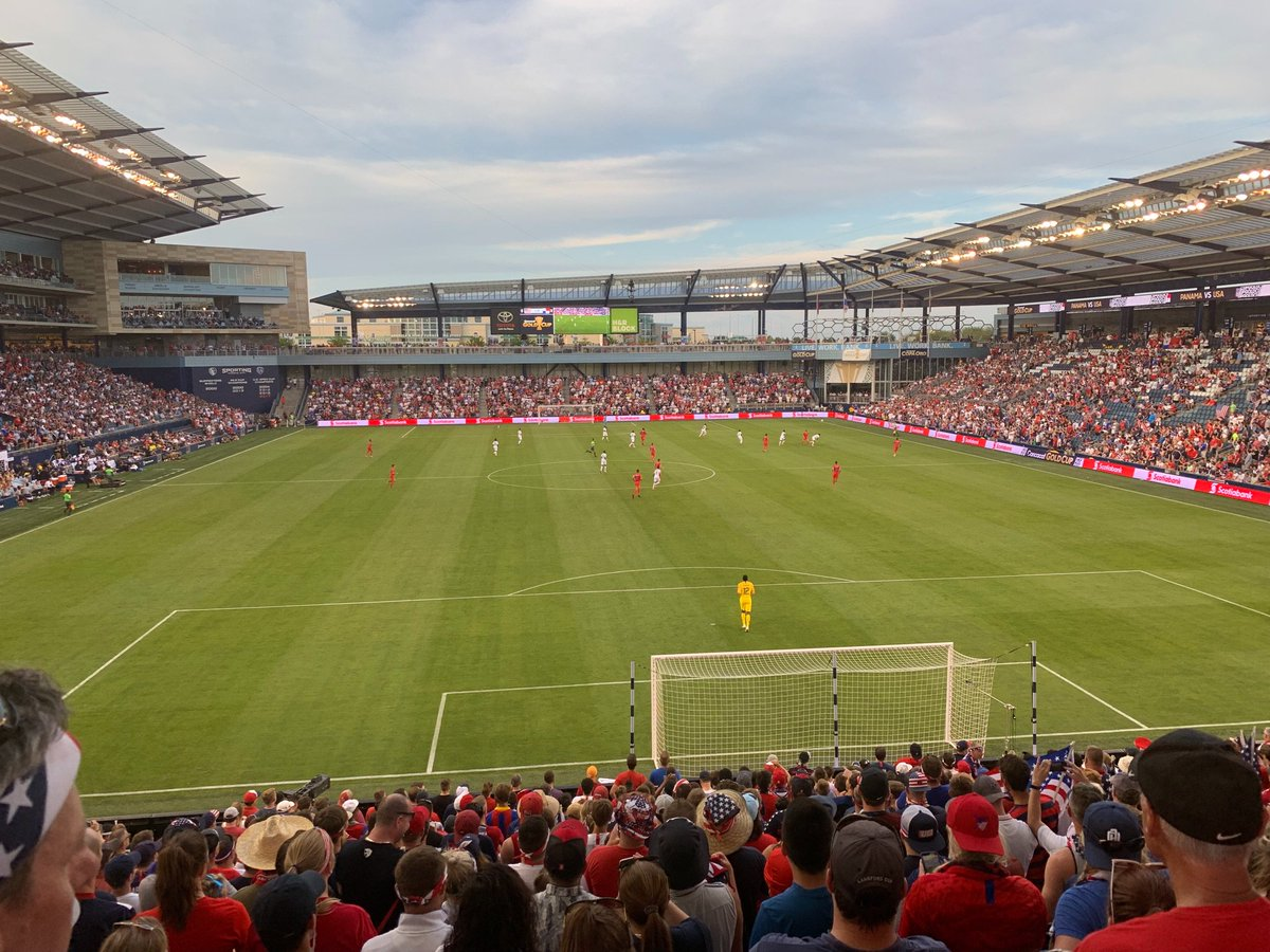 Great time sitting with @AOKCdoesnotstop at @cmpark. The Kansas City soccer atmosphere and passion never gets old. https://t.co/sxa7KkNwed