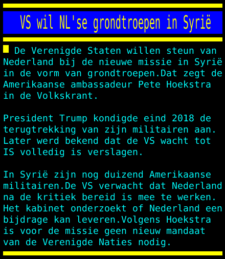 test Twitter Media - VS wil NL'se grondtroepen in Syrië https://t.co/1MNkWLiijl