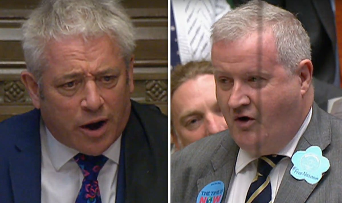 Brexit news: John Bercow cuts off SNP Ian Blackford in House of Commons | UK | News | Express.co.uk
