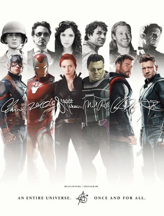 RT @77MCU: An Entire Universe. Once And For All. #AvengersEndgame https://t.co/zwtekyBob5