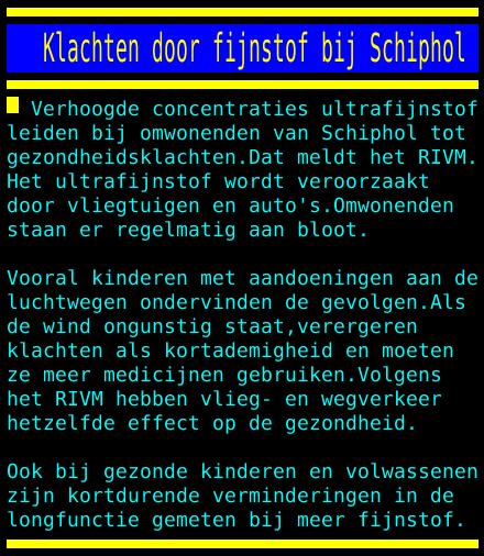 test Twitter Media - Klachten door fijnstof bij Schiphol https://t.co/cmR7m5e83G