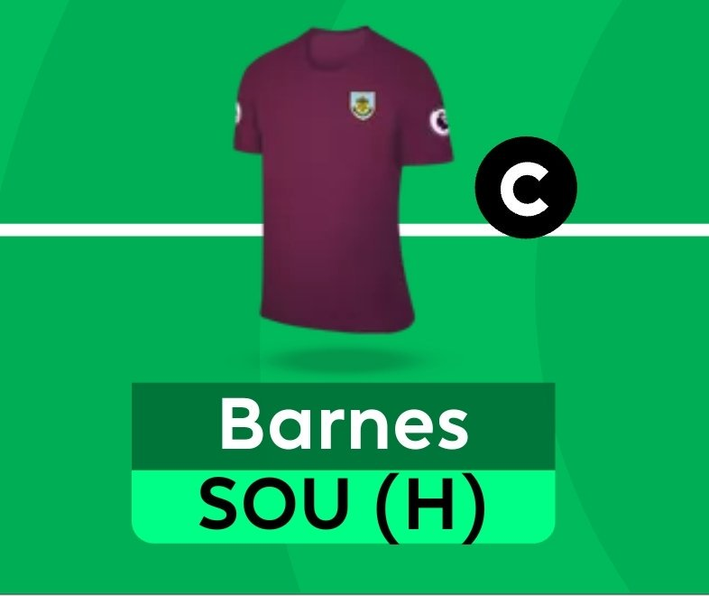 At 6.5. Will Barnes Mitzvah be without their talisman...  😱 #FPL https://t.co/sZwHJPWWAv