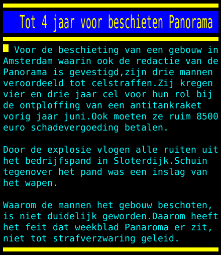 test Twitter Media - Tot 4 jaar voor beschieten Panorama https://t.co/49s2I8ClhL