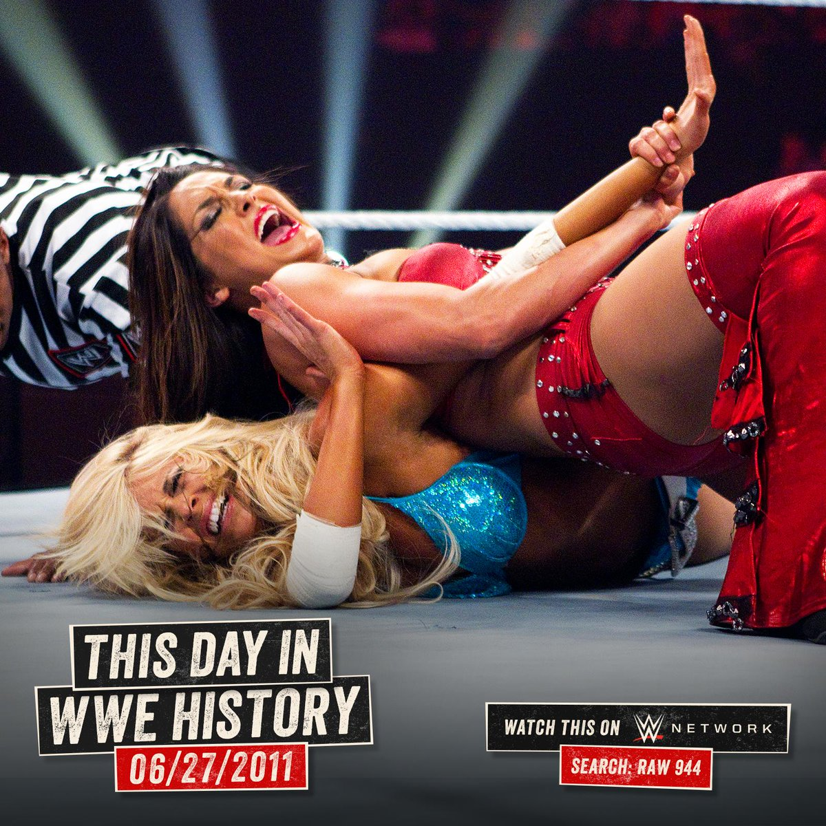 RT @WWENetwork: Nikki @BellaTwins took on @TheBarbieBlank in a #SubmissionMatch on this day in 2011! #RAW https://t.co/5w9zhJ2Ijk