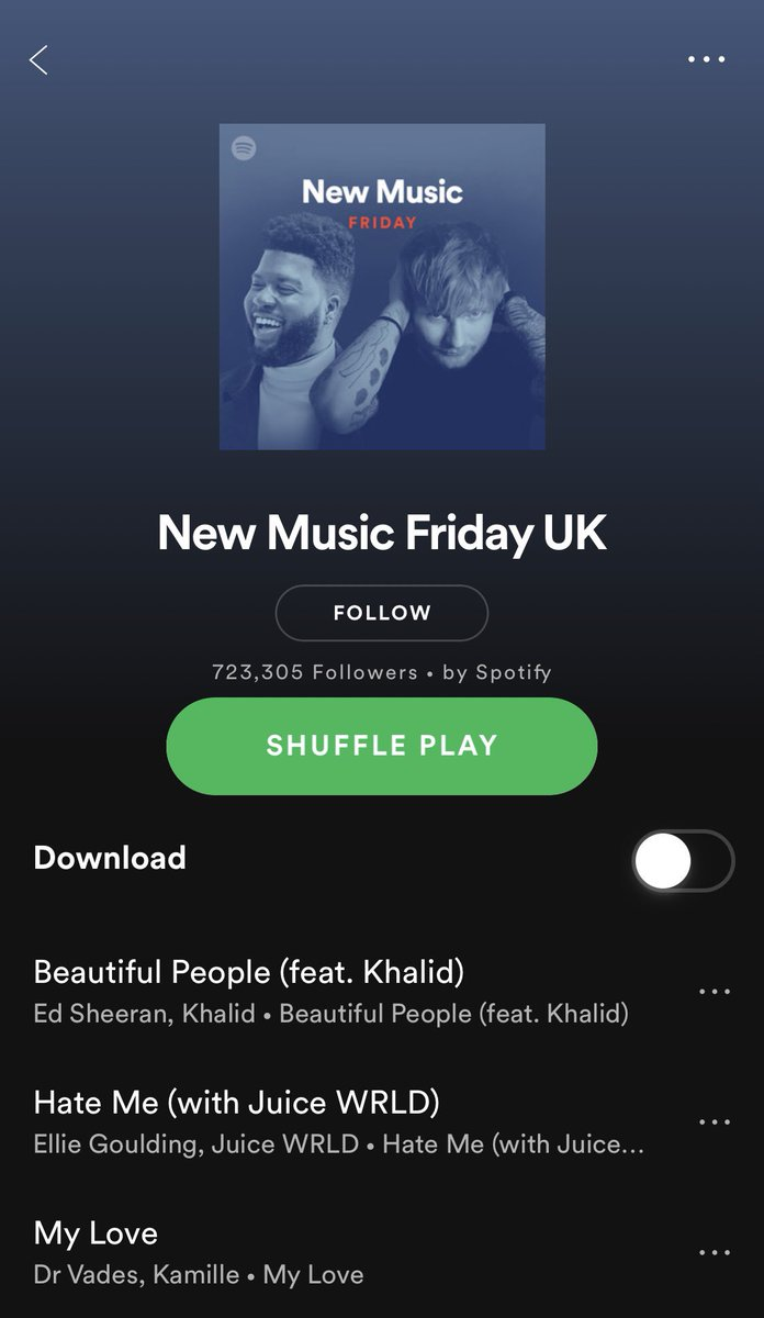 Hate Me on New Music Friday. Thank you @Spotify https://t.co/RW5ZKFaoPX https://t.co/JztVCGAxqz