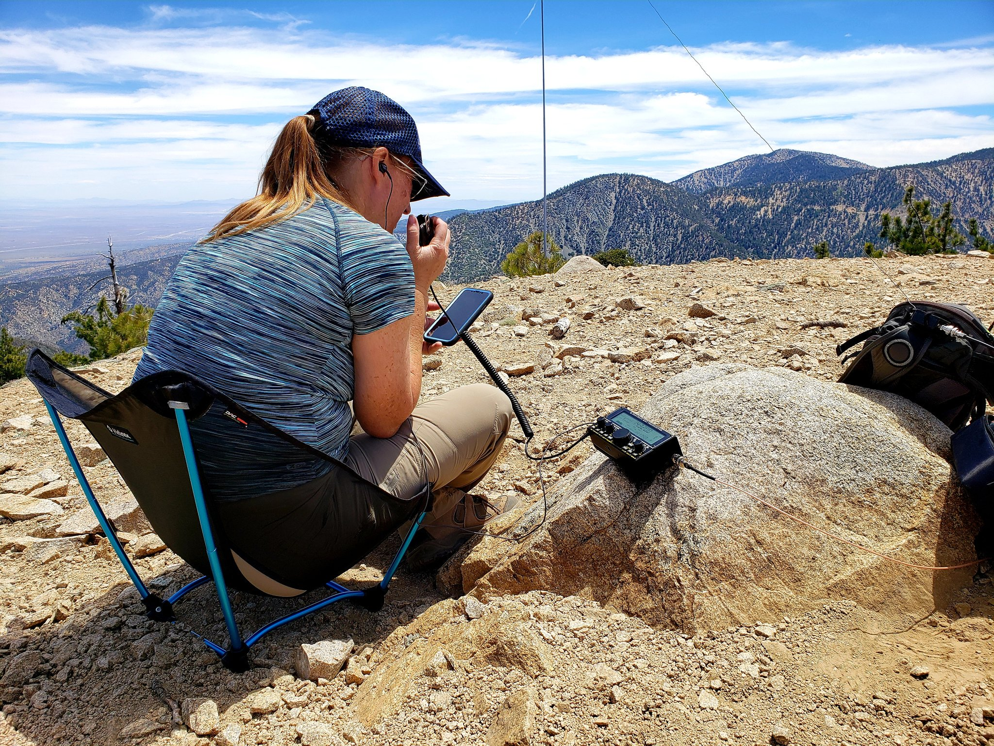 Activated W6/CT-247 today with @N2Zip. My XLY's first #sota activation as a general class. She got 17 qso's all over the USA. Thanks to all the chasers out there that made her activation a lot of fun. #hamradio https://t.co/RSiB5LcS35
