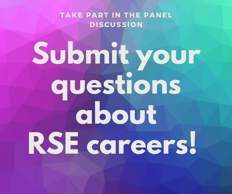 test Twitter Media - What would help your #RSEng career in academia? Submit questions for our senior management panel @RSEConUK #ukrse19 @DavidPriceUCL is the first VP to confirm and we expect more!   Submit questions here https://t.co/zG1b9HeiBh   @SES_Consortium  @SoftwareSaved https://t.co/Oq32bHrtZM