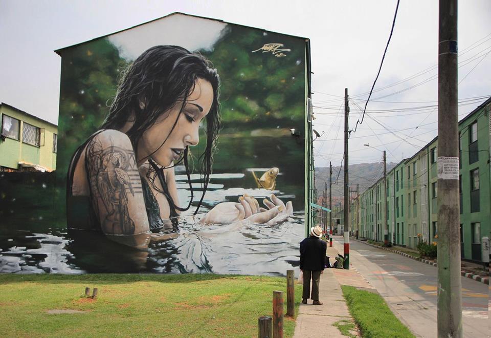 ... in water. Art by Mantra #StreetArt #Art #Beauty #Water #Tattoo #Graffiti #Mural #UrbanArt https://t.co/I8oiSZj267