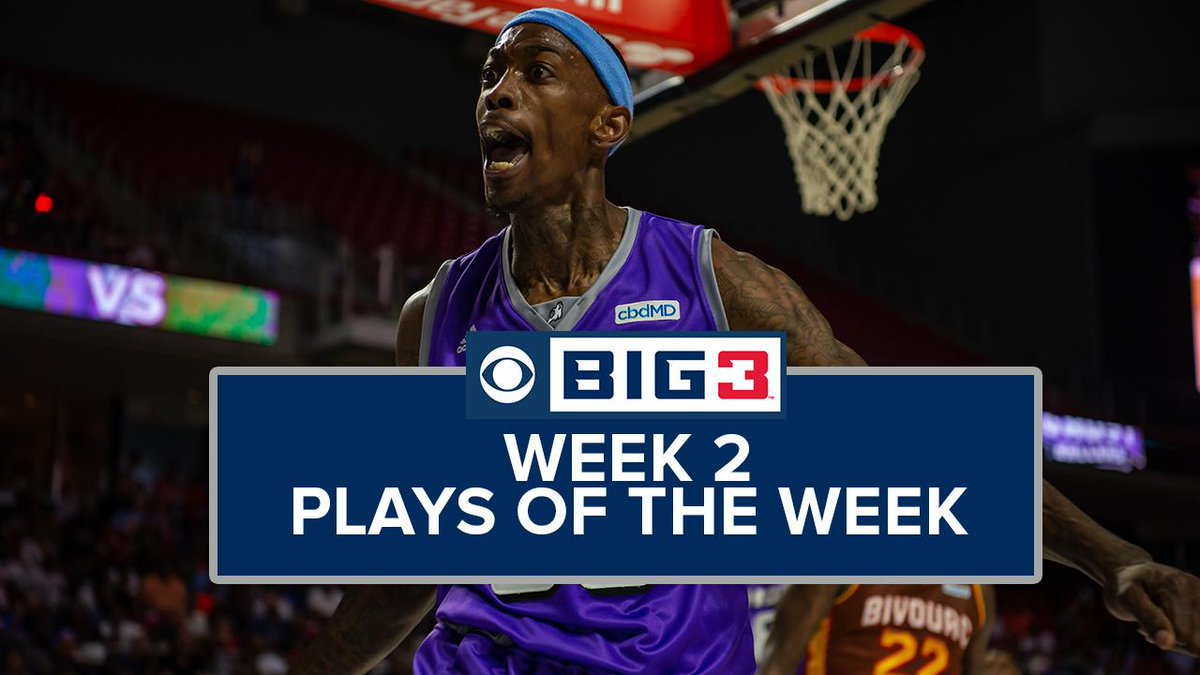 RT @thebig3: Week 2 brought us some of the most jaw-dropping highlights in BIG3 history! ???????????? #BIG3onCBS https://t.co/lL1gtKGV7c