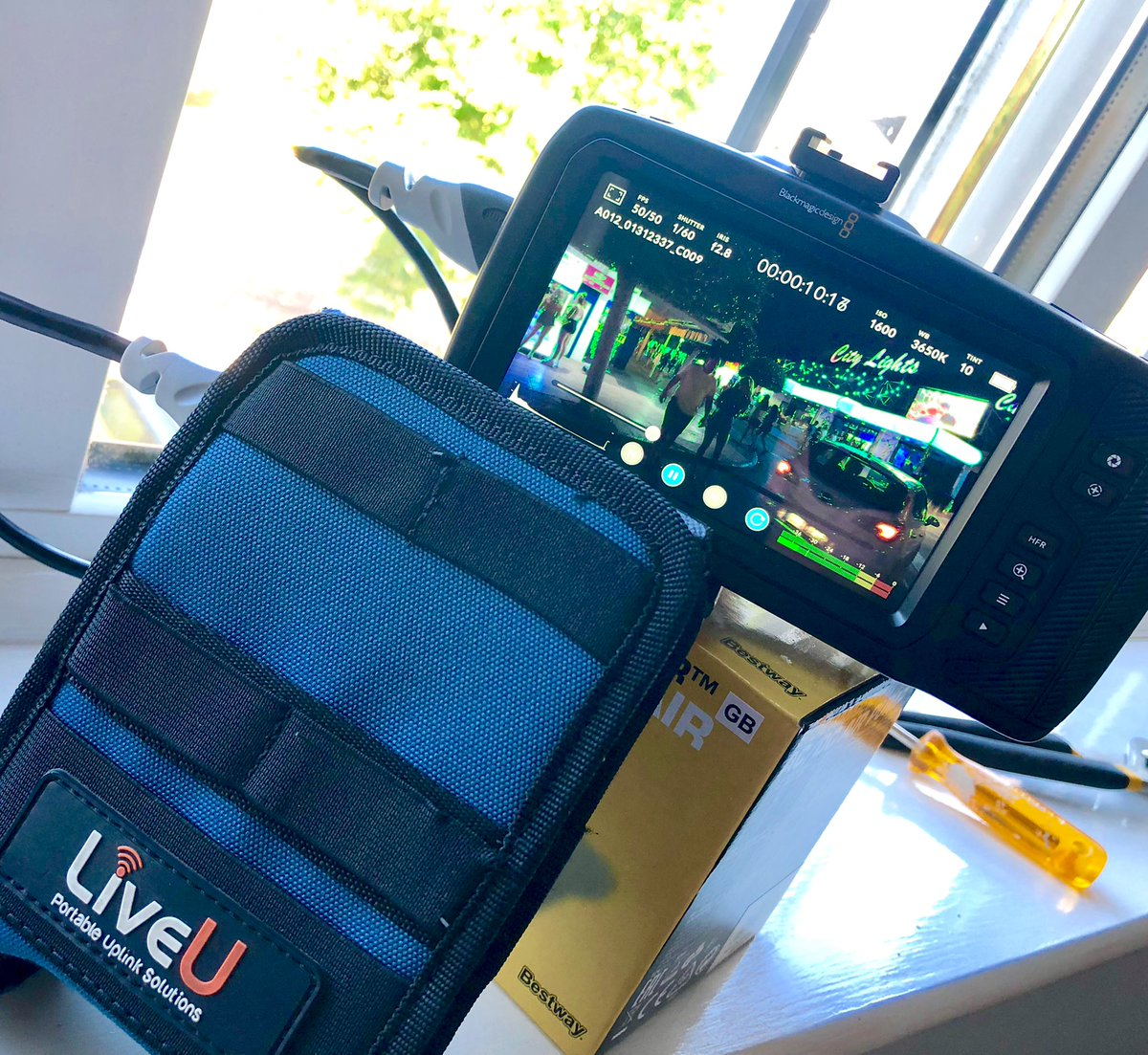 test Twitter Media - Feeding footage from #magaluf via @LiveU to ITV News having shot it on a @Blackmagic_News, small is the way forward https://t.co/ZUVC2YAeCq