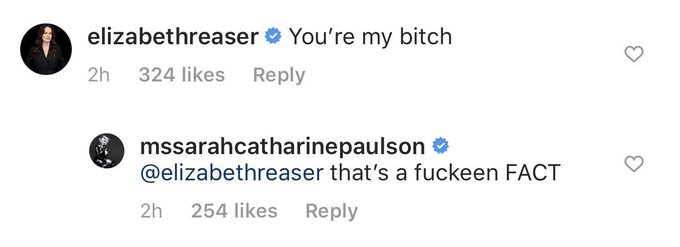 Sarah paulson: my dearest, what can i say? i d be lost without you. happy birthday, soul sister.   elizabeth reaser: