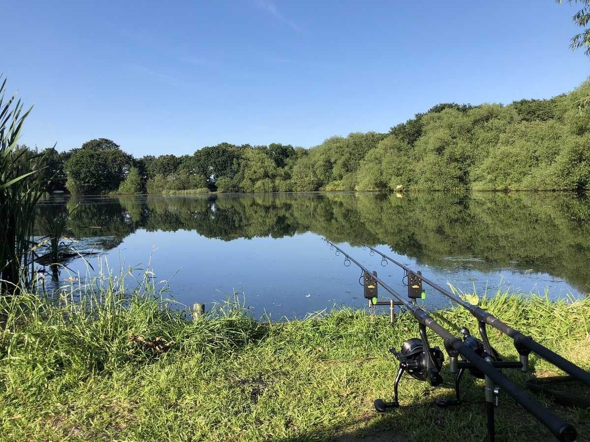 Rods out for the <b>Night</b>, let's hopefully get a run or 2 #carpfishing @Baitworks @monkeytweee