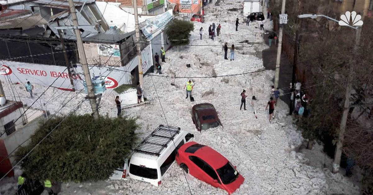 Why Mexico was pelted with hail on the last day of June