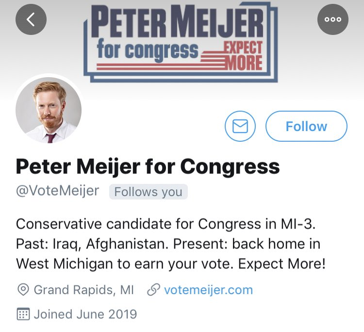 BREAKING: Conservative Iraq War veteran Peter Meijer @VoteMeijer has announced a major primary campaign against Justin Amash - @OANN