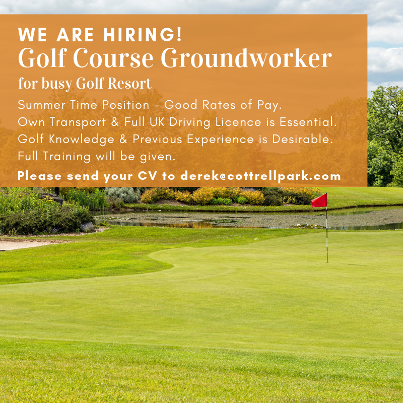 test Twitter Media - WE ARE HIRING - GOLF COURSE GROUND WORKER ⛳️☀️  📍 Summer Time Position - Good Rates of Pay. 📍 Own Transport & Full UK Driving Licence is Essential. 📍 Golf Knowledge & Previous Experience is Desirable. 📍 Full Training will be given.   Please send CV's to derek@cottrellpark.com https://t.co/kdBk1N23m8