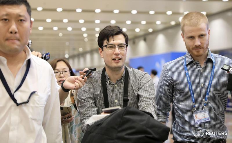 Australian student Alek Sigley released from North Korea in 'good spirits'