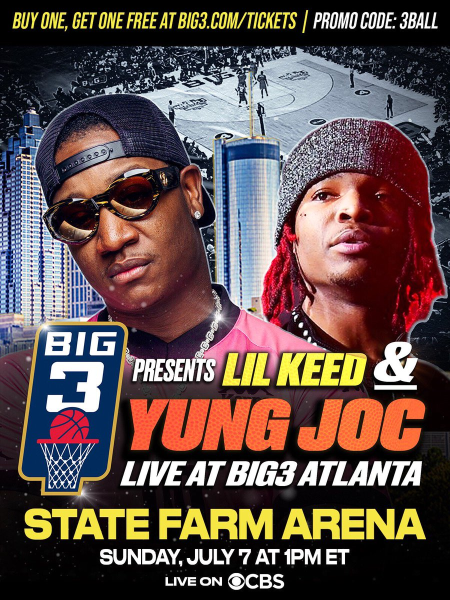 More than a game it's an adventure. Lil Keed & Yung Joc performing @thebig3 Atlanta. https://t.co/tabdSFz6Bh