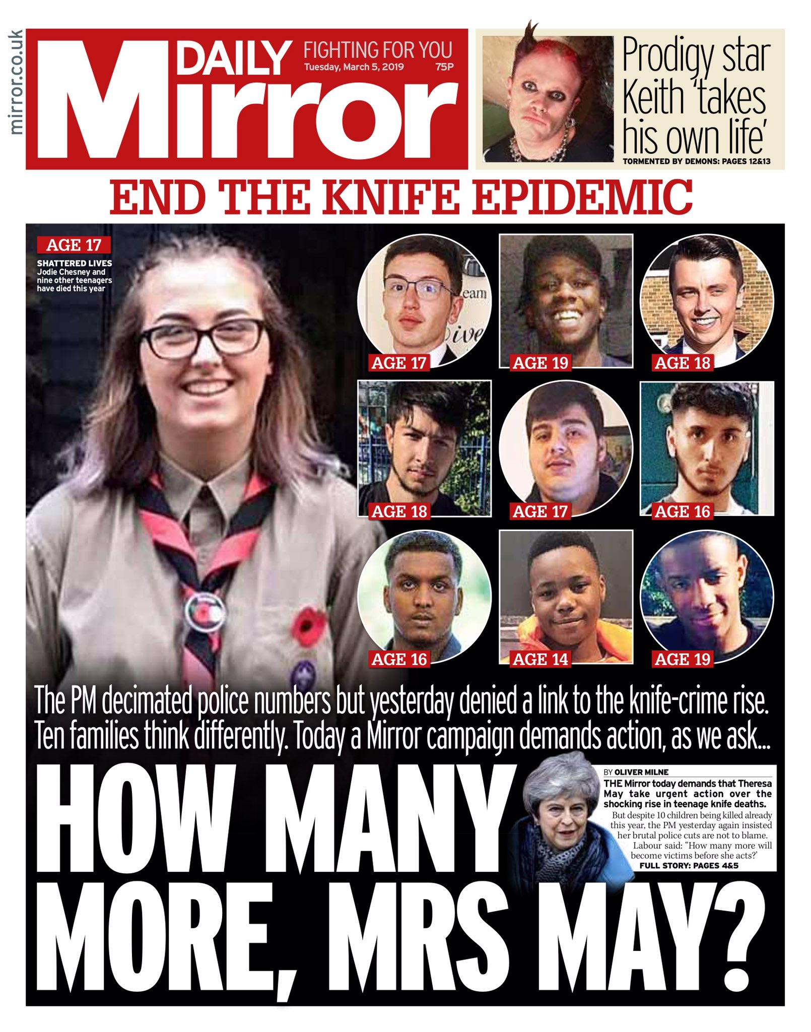 MIRROR: How many more, Mrs May? #tomorrowspaperstoday https://t.co/cbMJZBbJid