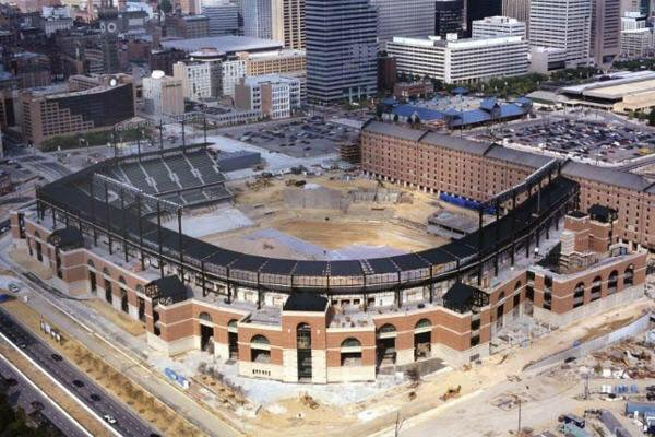 Baseball had no idea what was coming. Oriole Park at Camden Yards. Construction 1991. https://t.co/N7MLv6I7Ge