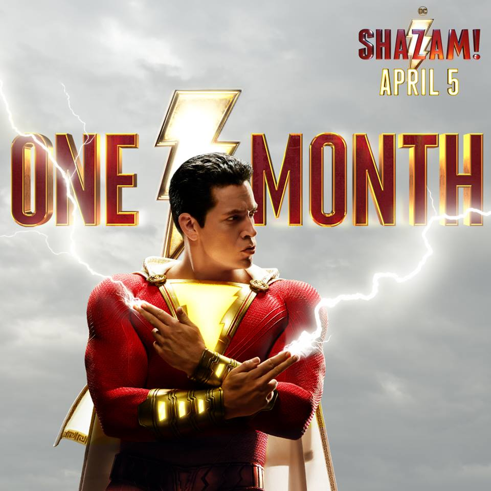 test Twitter Media - Get ready. ⚡#SHAZAM! hits theaters in ONE MONTH! Watch the new trailer again on YouTube now: https://t.co/daHWpr0ltH // Soyez prêt. ⚡️#SHAZAM! débarque dans un mois! https://t.co/tBHGPG3YVQ