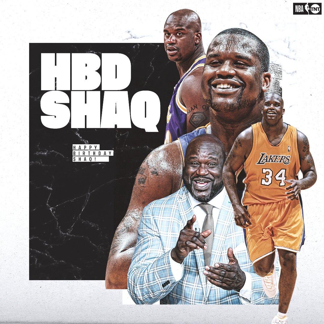 RT @NBAonTNT: Join us in wishing @SHAQ a Happy Birthday! 🎉 https://t.co/setx7TzDAW