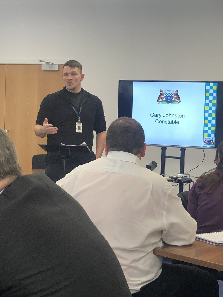 test Twitter Media - RT @jacnjimms: Gary Johnstone Giving an overview of a day in the life of police officer #MeetTheNorthFeds https://t.co/EbDauwpdv8