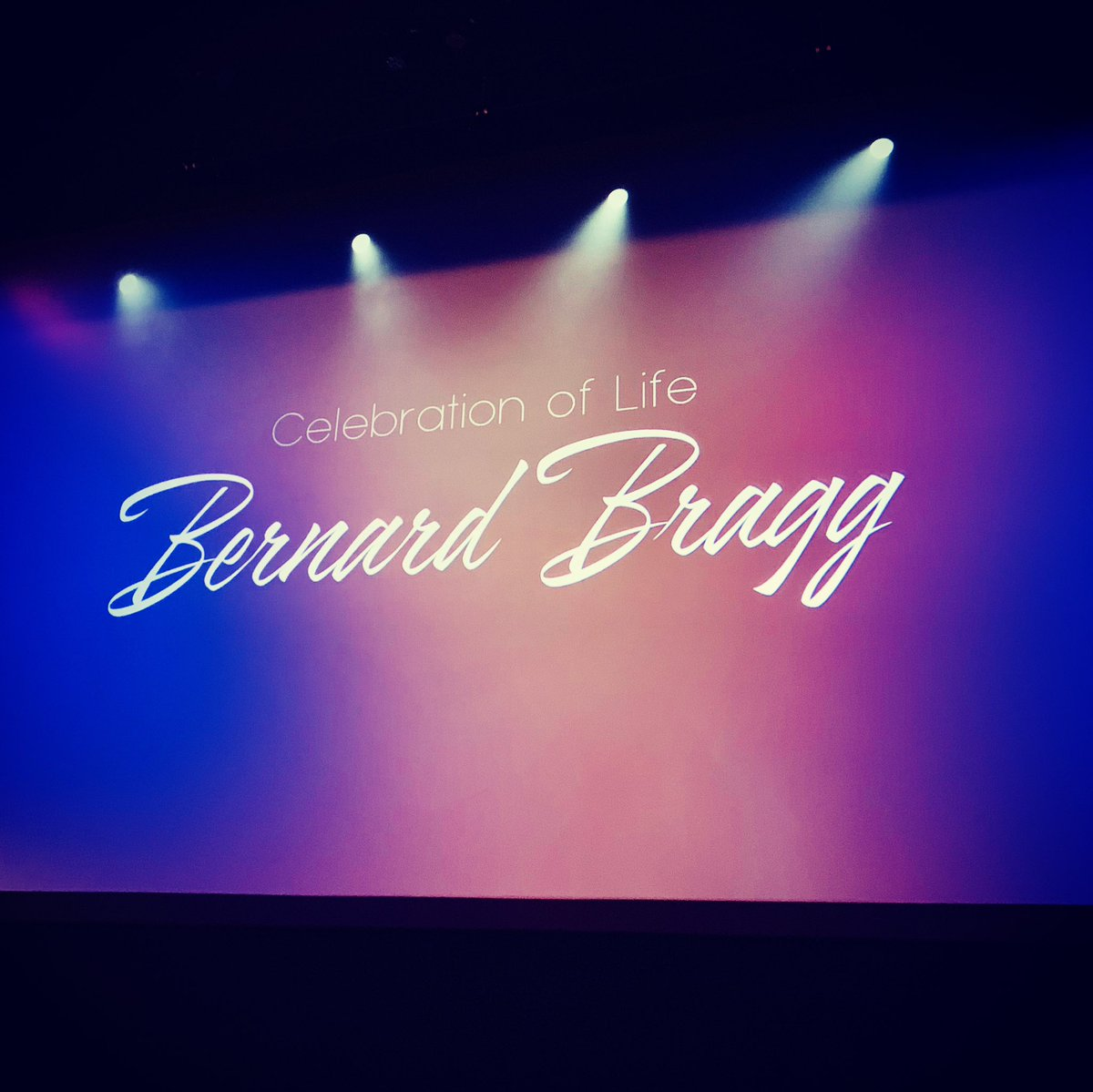 Celebrating the life of the father of Deaf Theater, Bernard Bragg. https://t.co/bZWqzJOzsy