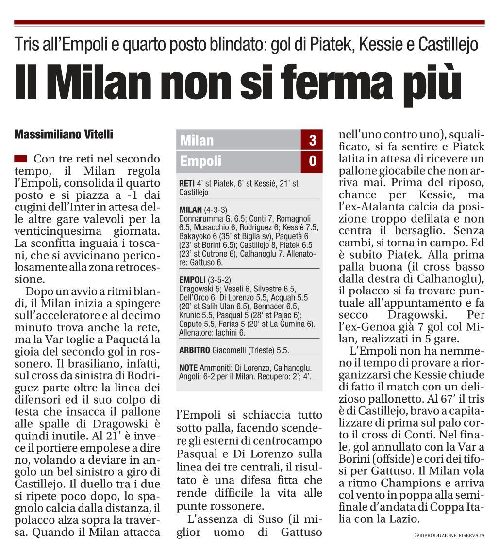 #MilanEmpoli