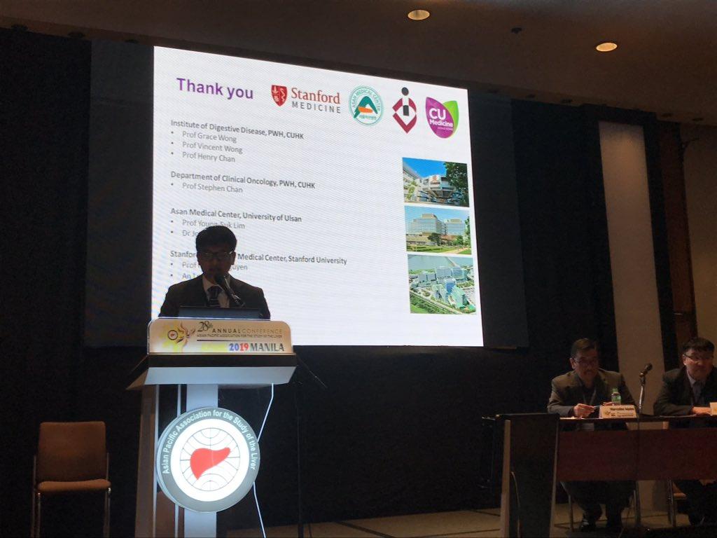 test Twitter Media - Wonderful multicenter study of @CUHKMedicine @Stanford_GI and Asan Medical Center on TDF reducing HCC death in CHB cirrhosis presented by Dr. Ken Liu.  @apasl2019 #HBV #cirrhosis #hepatitisB https://t.co/UHfzQBRWOk
