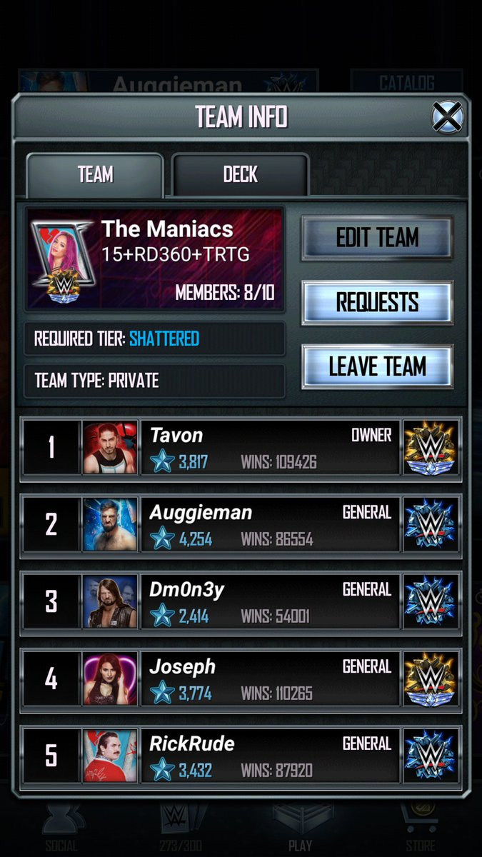 test Twitter Media - Looking for 2 active shattered team members, you must be active in tbg and team events, message if interested, @WWESuperCard #wwesupercard https://t.co/0CRmDEncSM