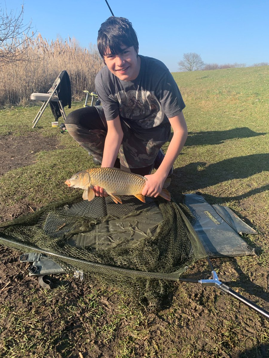 Today was the day my son Ben caught his first carp! 🎣💪🏼 #CarpFishing #Fishing #Carp #NorthB