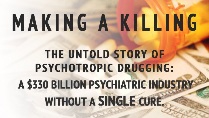 test Twitter Media - It's the story of big money—drugs that fuel a $330 billion psychiatric industry, without a single cure. Watch Making A Killing: The Untold Story of Psychotropic Drugging tonight at 5pm & 8pm PT on DirectTV Channel 320 or online at https://t.co/OYxkmMWHyJ https://t.co/wS4Me6CUSB